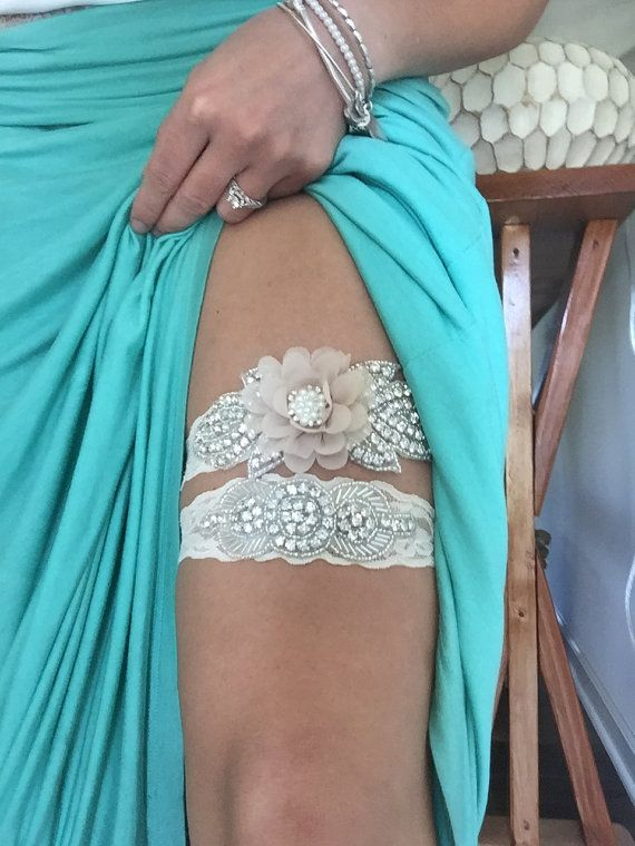 Hey, I found this really awesome Etsy listing at https://www.etsy.com/listing/473866101/rustic-garter-set-ivory-wedding-garter