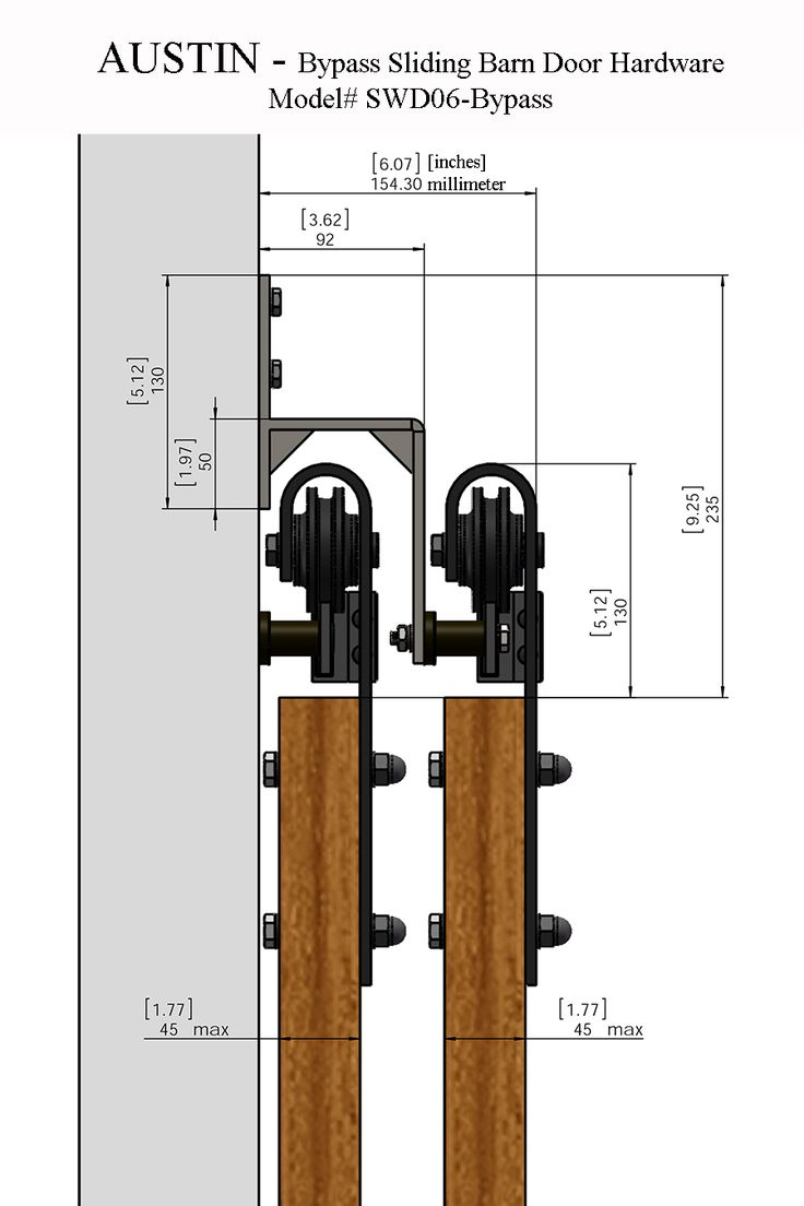 Wall mount sliding door hardware set - Our Rustic Style Austin Bypass Sliding Barn Door Hardware Will Captivate All Those Who Step Foot