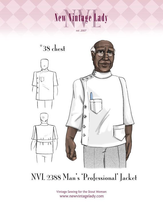Updated the cover illustration with Lady's great uncle, Mr. Ladie modeling :) Find Vntageville on Facebook!  NVL 38 chest 1940s Man's Professional Jacket by NewVintageLady, $30.00