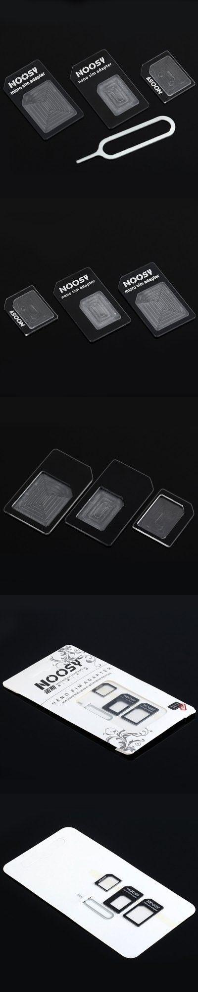 3 in 1 NOOSY Nano Sim Adapter ( Micro Sim + Nano Sim for iPhone 6S / 6 Plus / 5 / 4 / 4S )