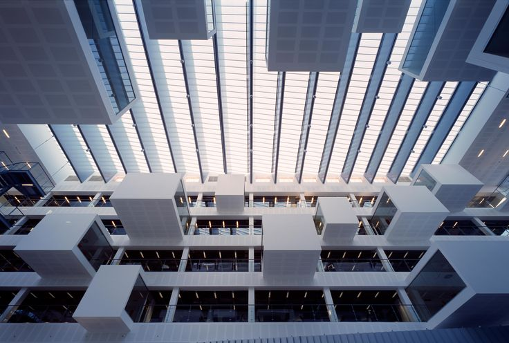 Levitating study rooms in the IT University of Copenhagen by Henning Larsen Architects. Photo by Adam Mørk