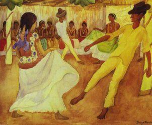 Baile en Tehuantepec, de Diego Rivera (Foto: DiegoRivera.org)