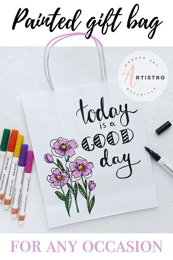Design Your Own Eco Friendly Paper Bag Paint Marker Pen Paint
