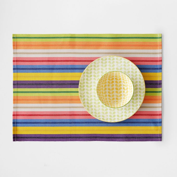Image 1 of the product Multicoloured striped placemat (set of 2)