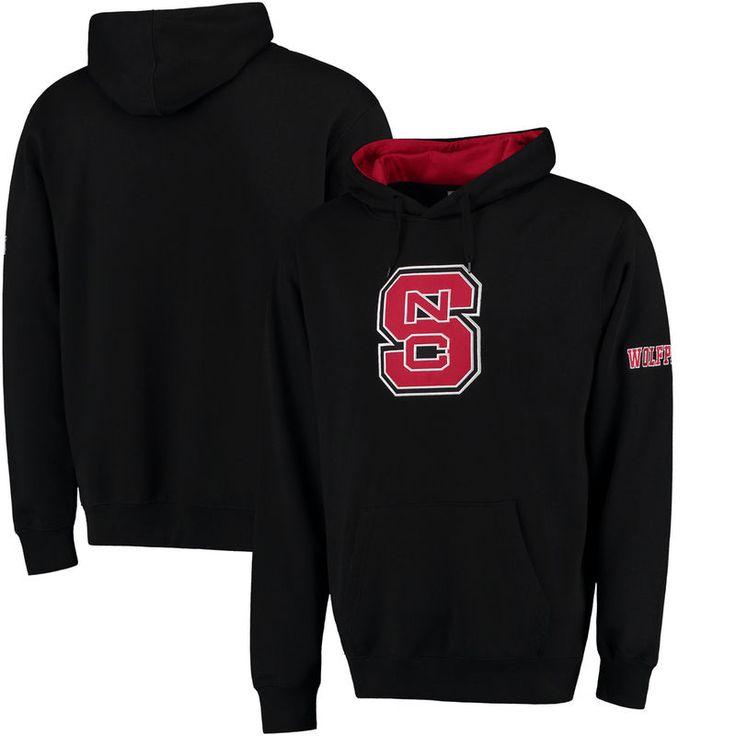 NC State Wolfpack Stadium Athletic Big Logo Pullover Hoodie - Black