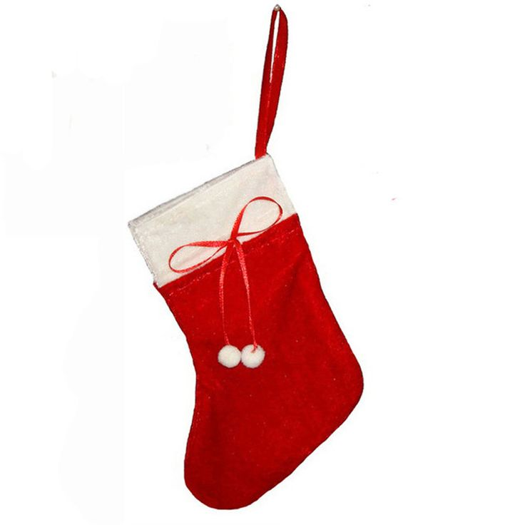 1PC Bag Christmas Sock Storage Red Fabric Candy Bag High Quality Home Christmas Decoration Wholesale Free Shipping MC40