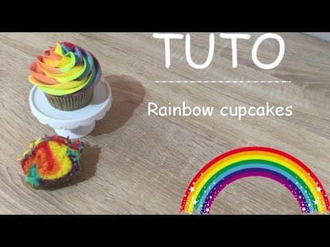 Rainbow cupcakes ! How to make a rainbow cupcakes - YouTube ~ l'atelier de roxane ~ roxane le meilleur pâtissier saison 4