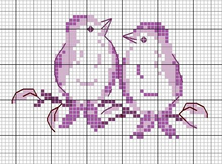 Free Cross Stitch Pattern - Birds