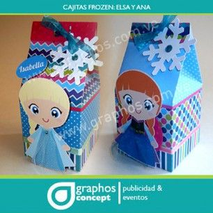 Instagram photo by graphos_concept - Frozenmania. ..cajitas para cotillones,  motivo frozen. Con Ana y Elsa... Bellamente acabadas, personalizadas.  Info : graphos.concept@gmail.com #hechoenvenezuela #hechoamano #madeinvzla #lecheria #plc #ccs #caracas #maturin #vzla #maracaibo #anaco #baby # cotillones #anzoategui #barcelona #frozen #cute