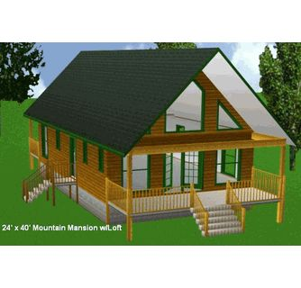 24 x 40 cabin w loft plans package blueprints material for 24x24 cabin