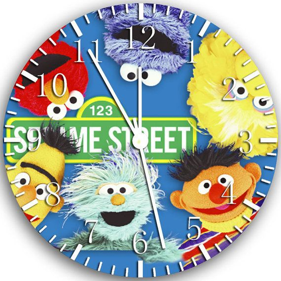 New Sesame Street Wall Clock 10 Will Be Nice Gift By Melissaclocks, $12.99