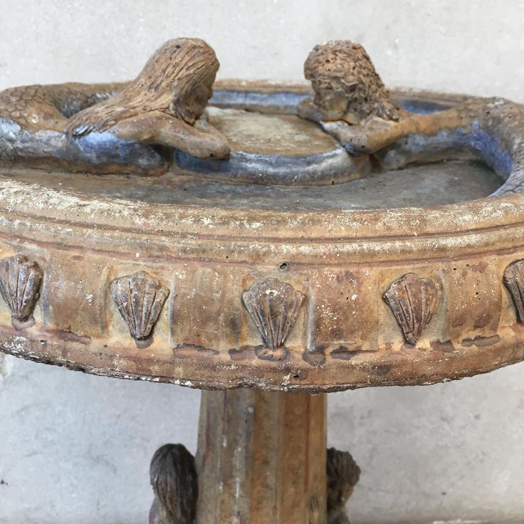 how to make a concrete bird bath