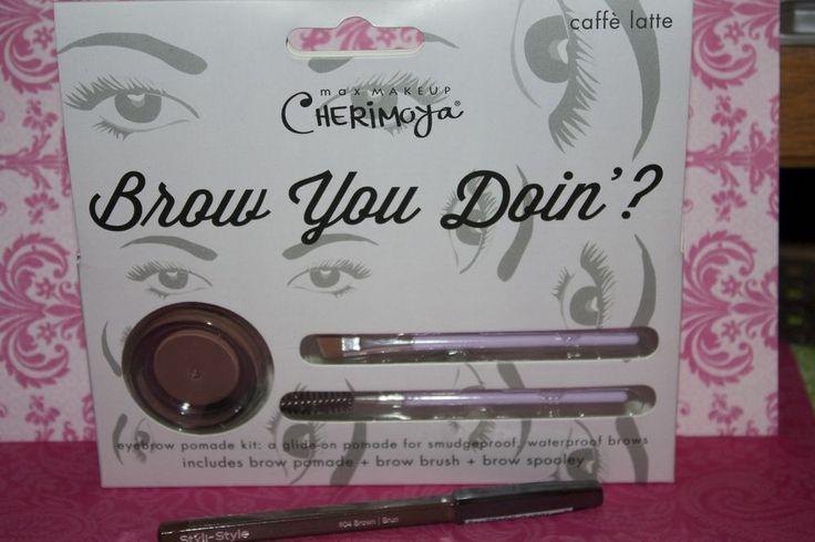 """BROW YOU DOIN?"" Eyebrow Pomade Kit By Max Makeup Cherimoya In Caffe Latte NIB #Cherimoya"