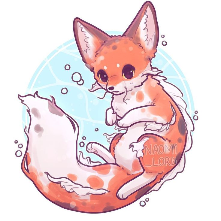 ✨💙 Water Fox! 💙✨ (thought I'd go for a Koi fish style theme!) 🌊…