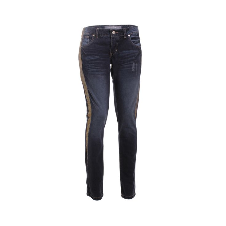 Jeans Franja Dorada, Vania Milena, $45.000. Jeans con franja en el costado color dorada, te recomiendo que la uses con alguna polera o blusa que te acomode.
