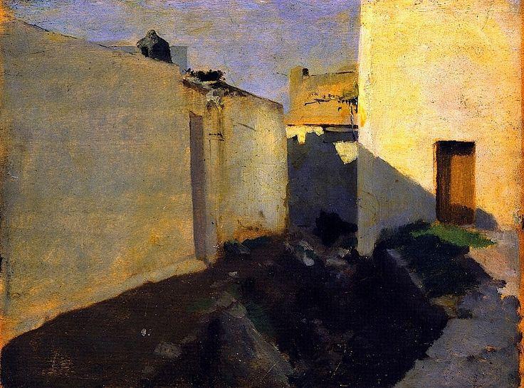 bofransson: White Walls in Sunlight, Morocco - John Singer Sargent - 1880