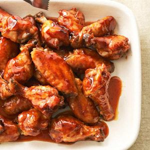 Five-Spice Chicken Wings - Add an Asian flair to wings with plum sauce and five-spice powder. Potluck guests will never know these wings are diabetes-friendly -- each has just 32 calories, 1 gram of fat, and 3 grams of carb.