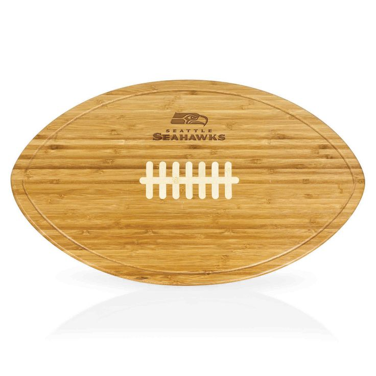 Seattle Seahawks Kickoff Football Shaped Carving Board