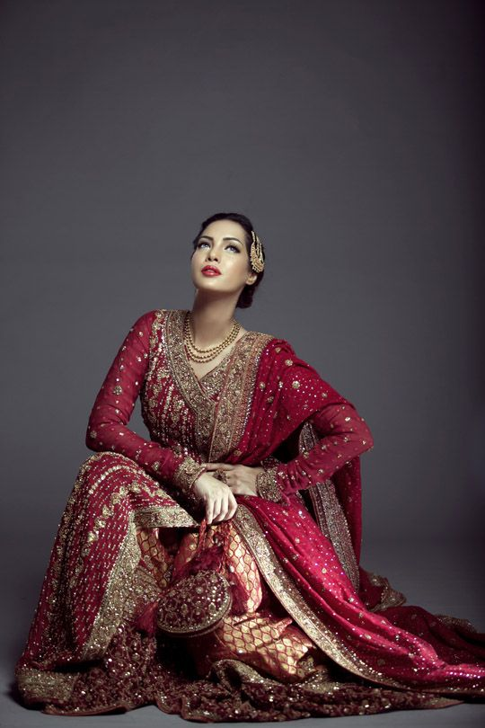 Mifrah Winter Bridal Wear. From Oct 2014 shoot. Mifrah Gul is a Pakistani Fashion Designer.
