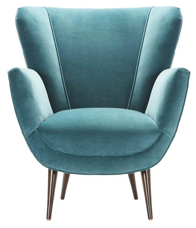 Peacock green blue chair