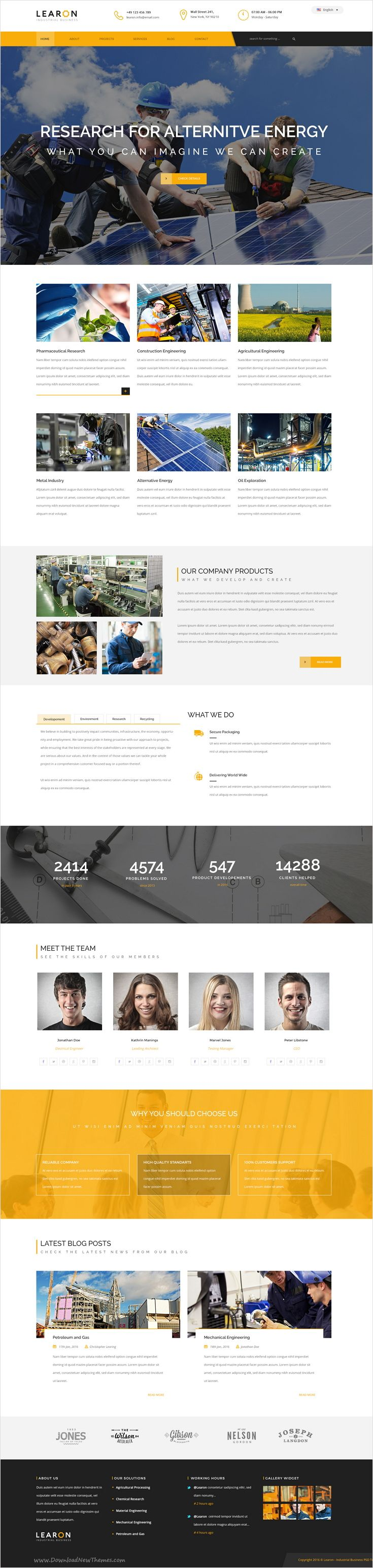 Learon is beautifully design perfect #PSD template for #industrial companies, #mechanical, engineering, chemical industry, construction company with 3 unique homepage layouts and 11 organized PSD files website download now➩ https://themeforest.net/item/learon-industrial-business-psd-template/17243158?ref=Datasata