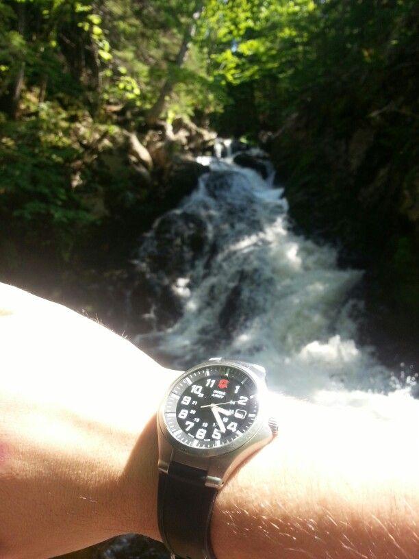 Swiss army basecamp watch @ Kierstead mountain falls near millstream nb