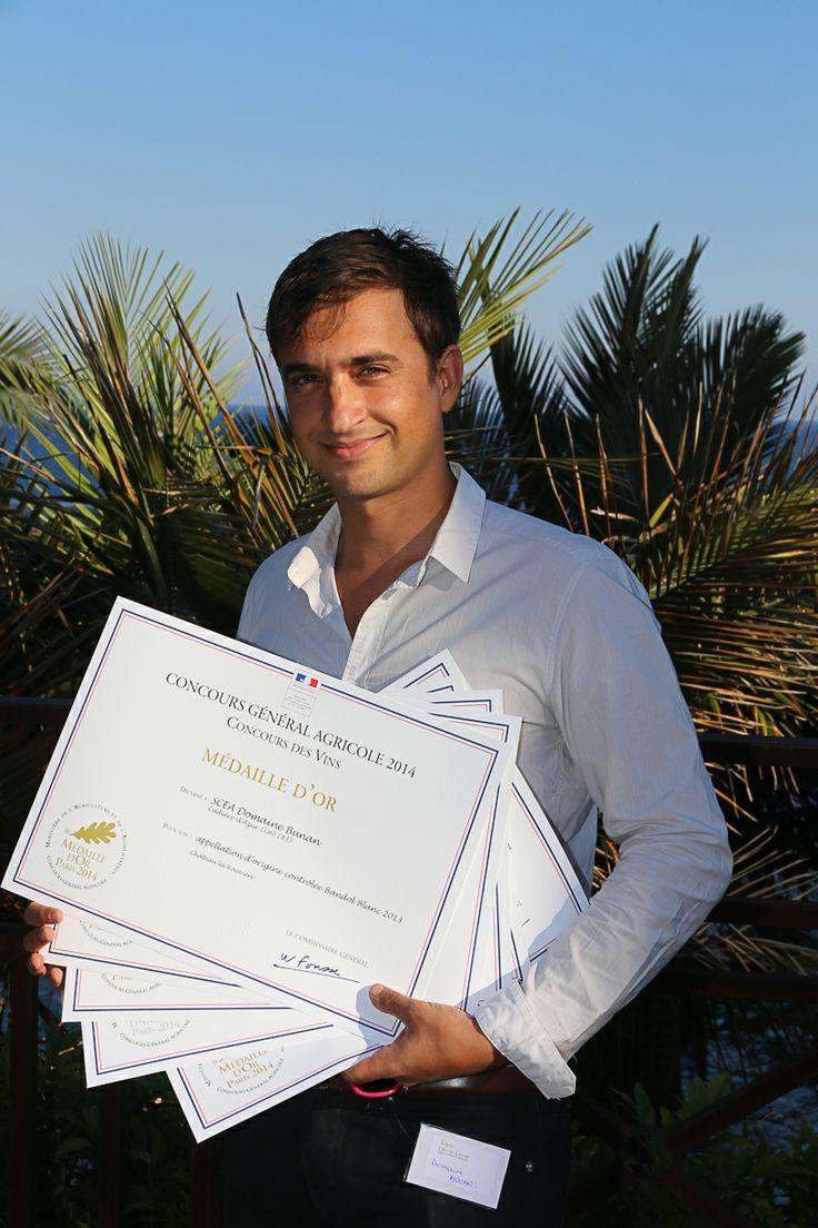 Un lauréat de Bandol Domaine Bunan,  fier de ses diplômes