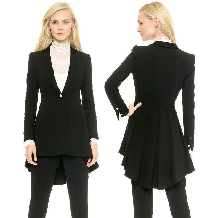 Blazers For Rent: 2015 New Women Blazer Elegance Style Suit Folds Open Lapel
