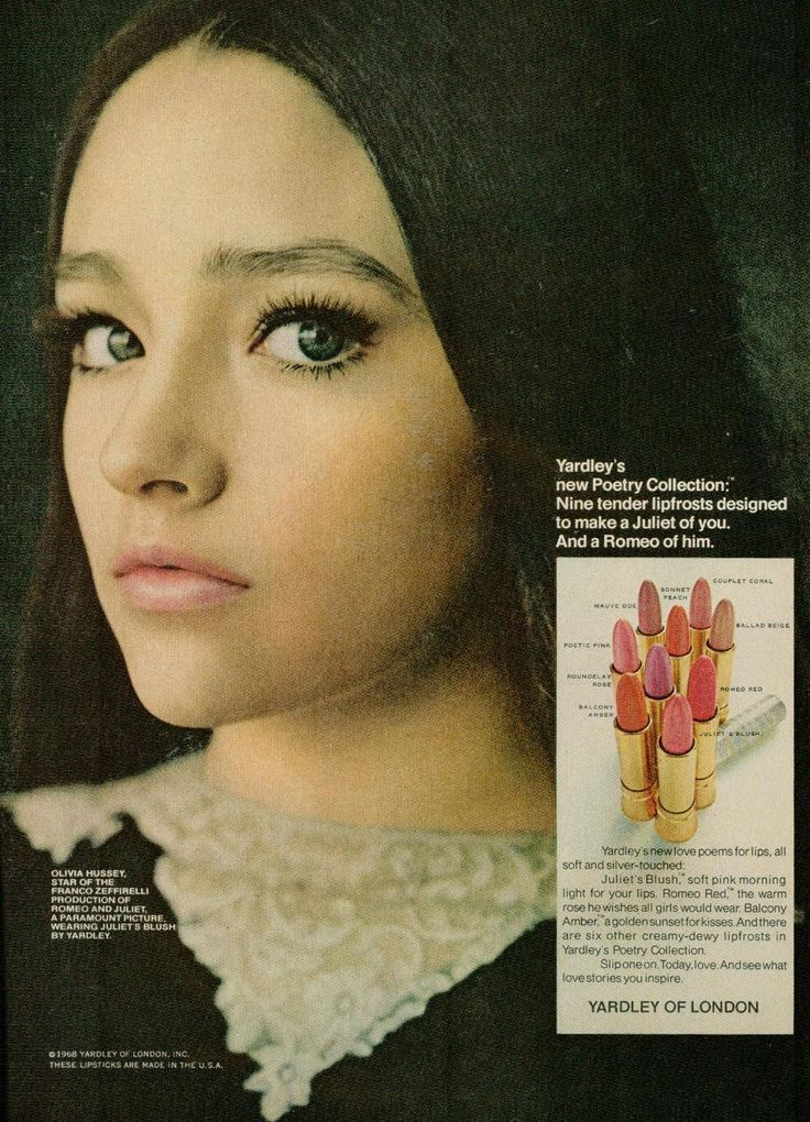 Olivia Hussey as Juliet for Yardley of london
