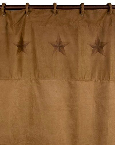 Luxury Star Shower Curtain With Coordinating Rings Western