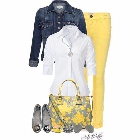 Идеи ярких и стильных образов на лето в желтых тонах.