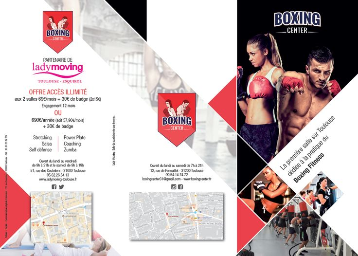 Brochure Boxing Center #brochure #print #communication #brochureA4 #boxing #boxe #toulouse #ewolis #creationewolis