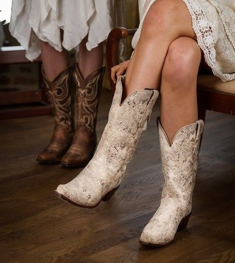 Popular cowgirl boots 25 cowgirlboots for Western wedding dresses with boots