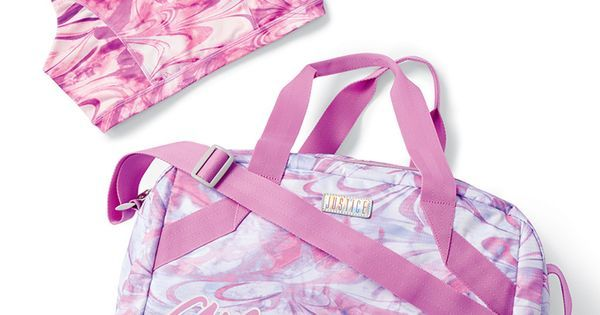 A match-up of style and talent. We can't get enough of this printed made-to-match sports bra and duffel bag set! | Play like a GIRL! | Pinterest
