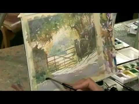 How to paint atmospheric watercolour landscapes - YouTube