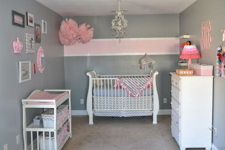 21++ Grey and pink striped walls inspirations