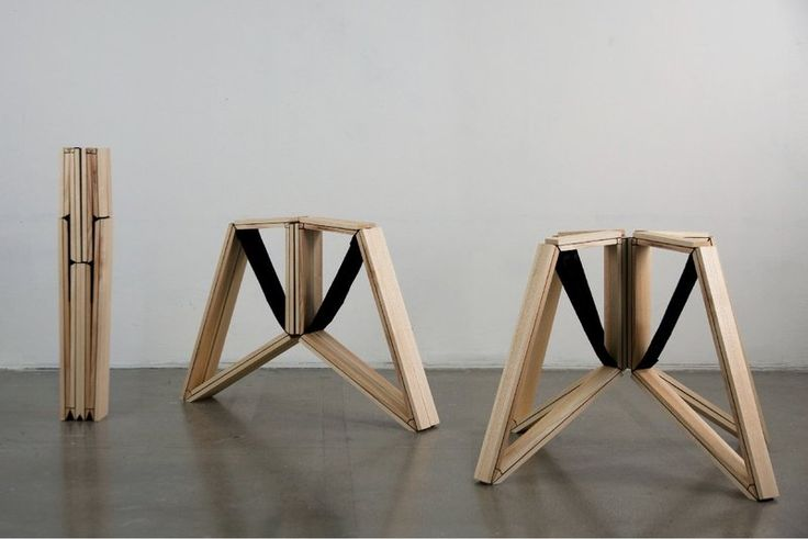 transformation of Foldable Stool with Structure that Inspired by A Spider's Legs