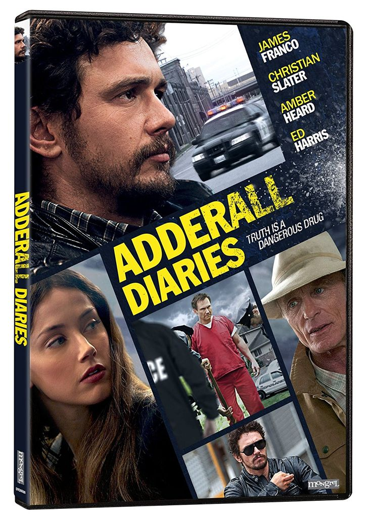 Adderall Diaries (2015) ... Suffering from writer's block, author Stephen Elliott (James Franco) reconnects with his estranged father (Ed Harris) while investigating the murder case of computer entrepreneur Hans Reiser (Christian Slater). (01-Oct-2016)