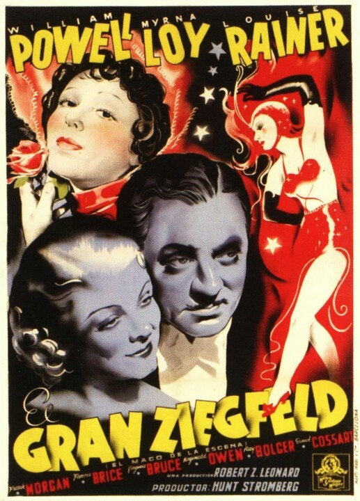 The Great Ziegfeld 1936 Carteles De Cine Portadas De Peliculas Cine Musical