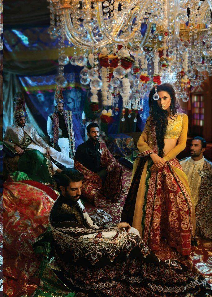 pakistani bridal fashion - mehndi lehnga - ali xeeshan