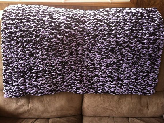Purple twist throw polyester soo soft extra bulky