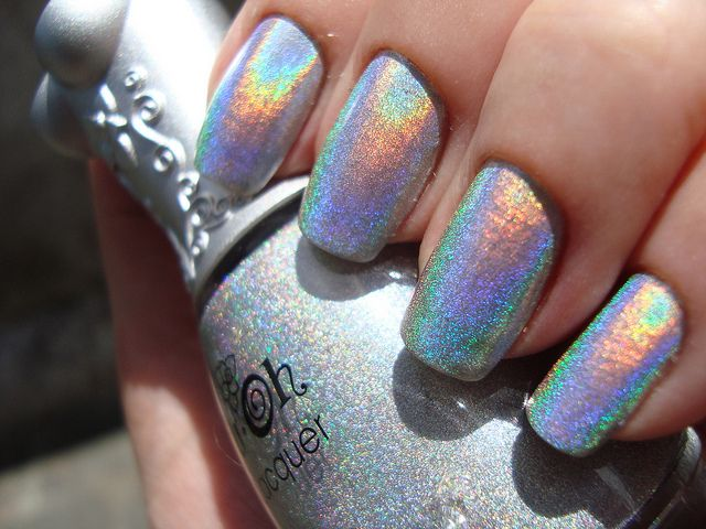 Nfu.Oh 61 holographic nail polish: the best.Holographic Nails Polish, Nail Polish, Nails Design, Nailpolish, Hair Nails Makeup, Art Design, 61 Holographic, Make Up Hair Nails, Holographic Glitter Nails
