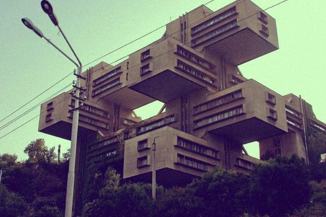 Russian Constructivist Architecture  The Road building. Tbilisi, Republic of Georgia  //anothermag.com