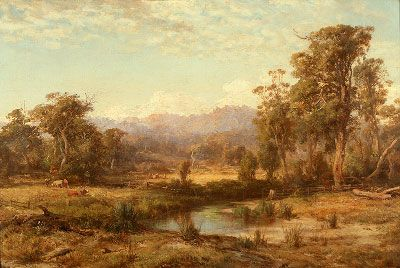 Buvelot, Louis, (1814-1888), Macedon Ranges, 1874, Oil