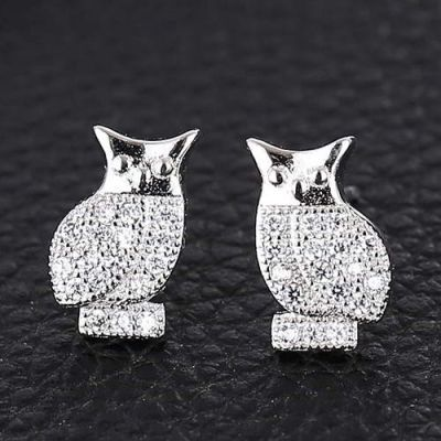 Owl Shape Simple Design Silver Color. Fashionable with passion REPIN if you like it.😍 Only 55 IDR