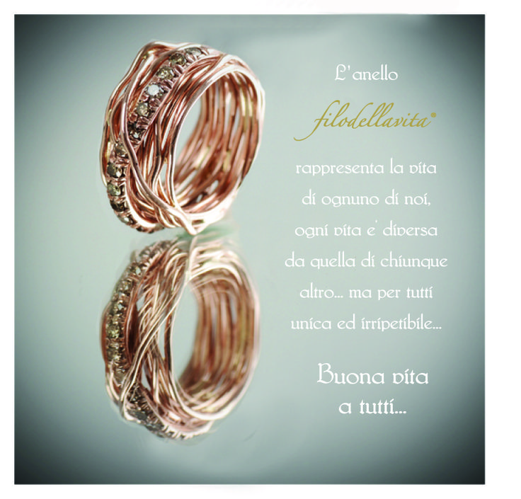 L'anello Filodellavita rappresenta la vita di ognuno di noi, ogni vita è diversa da quella di chiunque altro... ma per tutti unica ed irripetibile. Buona vita a tutti...