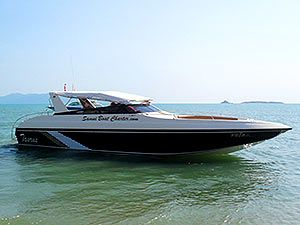 Taurus - 38ft sports cruiser with a max of 25 passengers and perfect for a group of 15 passengers. Top speed of 33 knots and cruise speed of 28 knots.
