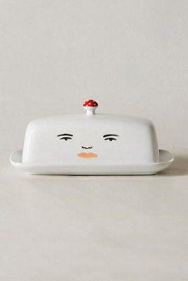 Mushroom Face Butter Dish