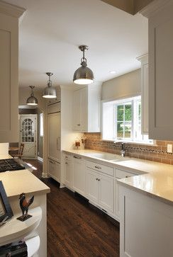 Traditional Kitchen Kitchen Lighting Design Pictures Remodel Decor And Ideas Page 21 Yes Big Pendent Lights In A Row In A Galley Kitchen