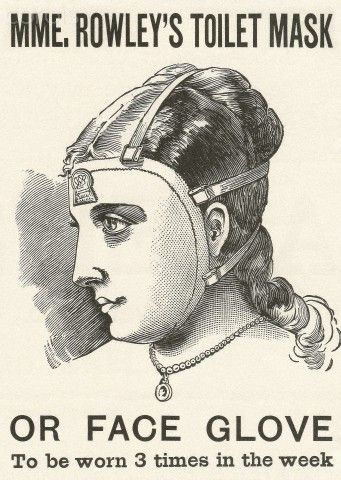 Victorian advertisement for women's face mask